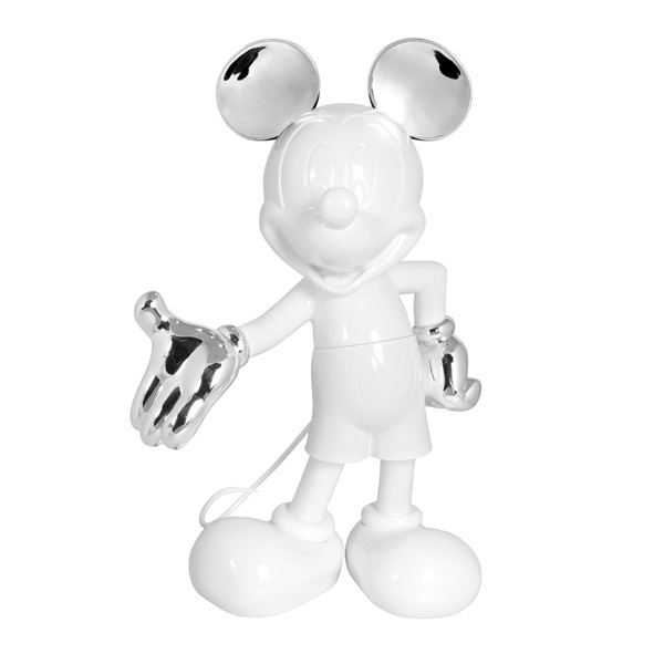 Mickey Welcome blanc argent