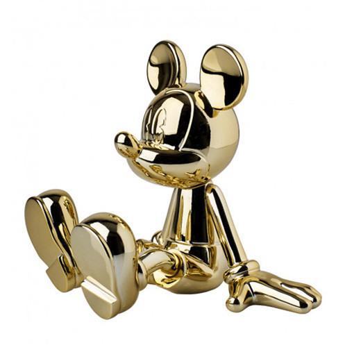 Vignette Sitting Mickey gold Web