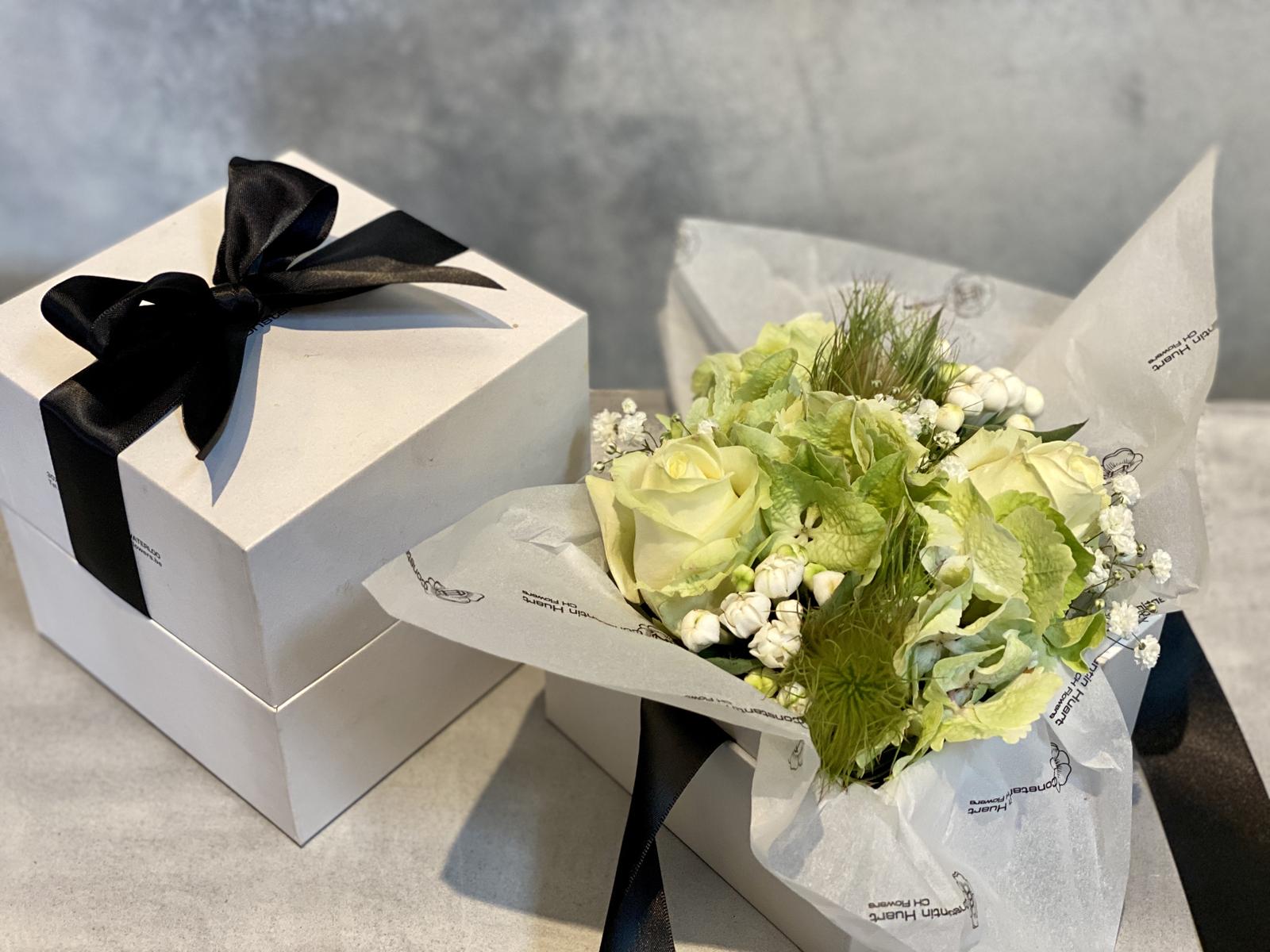 Boites a fleurs blanches petit