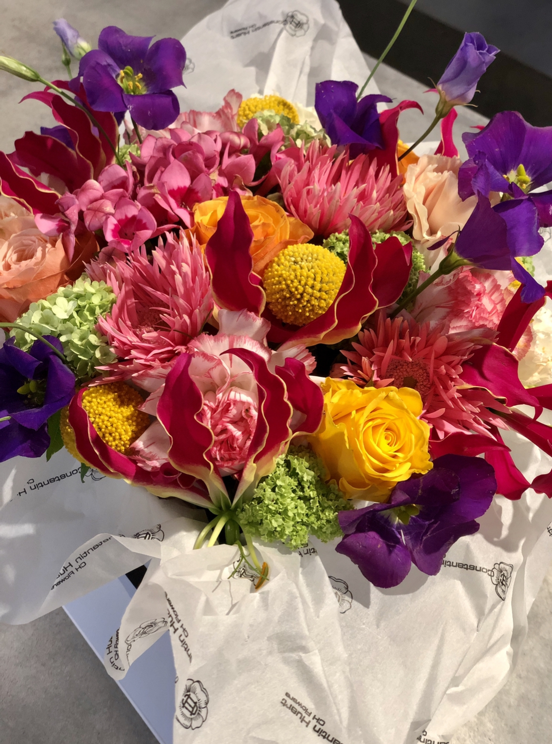 Boites a fleurs colorees grand