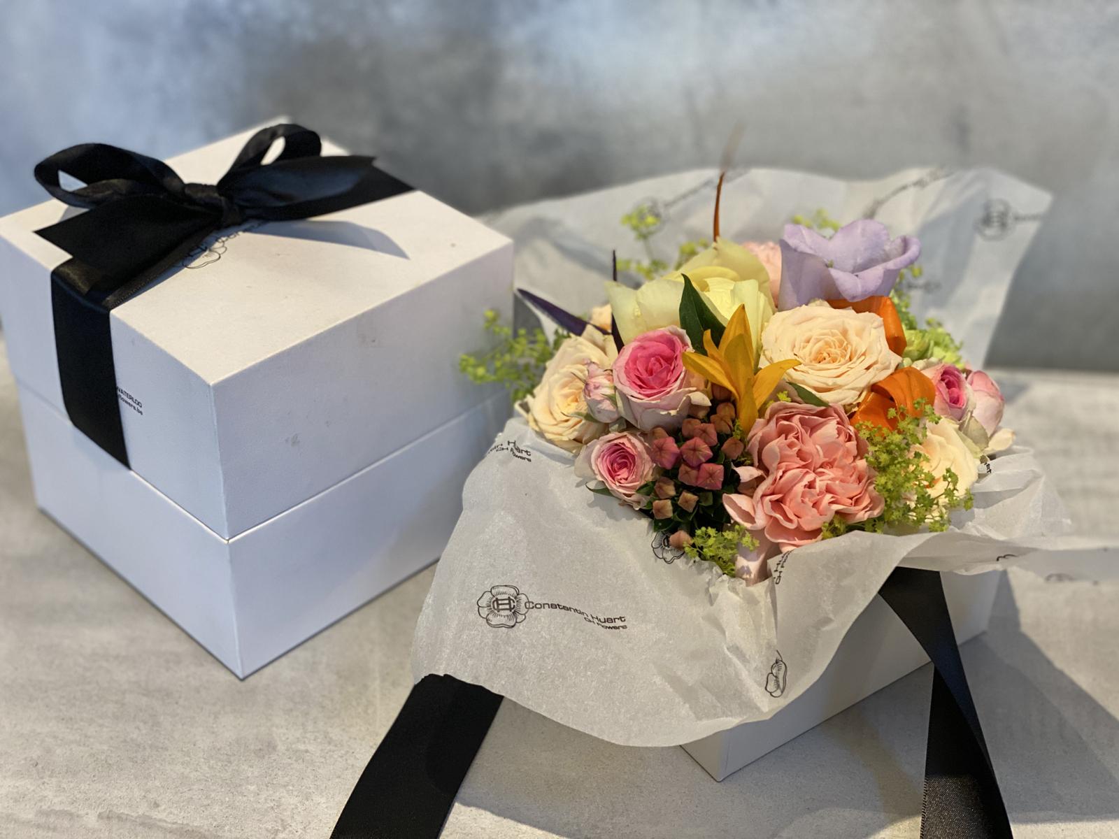 Boites a fleurs colorees petit