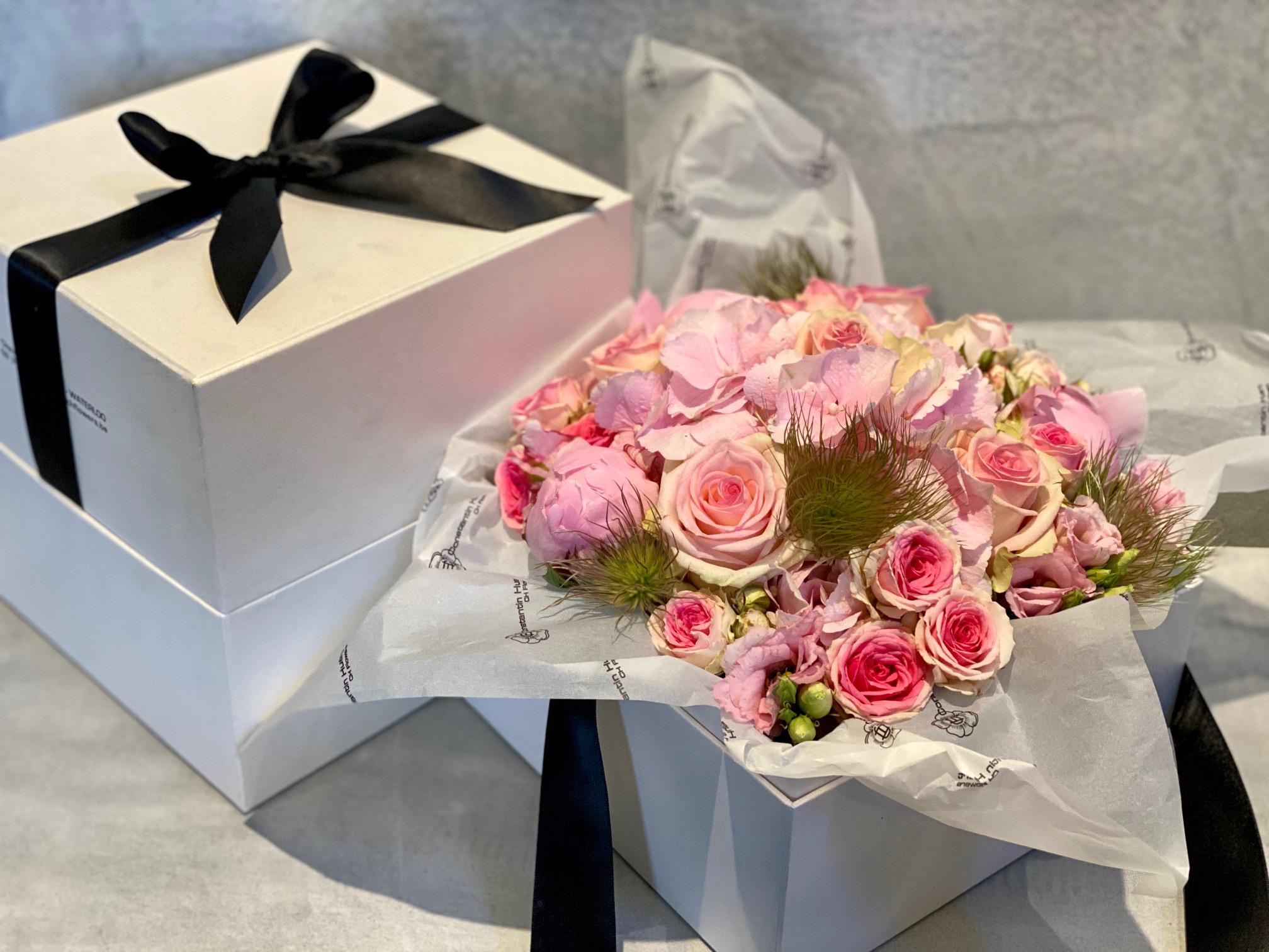 Boites a fleurs roses grand