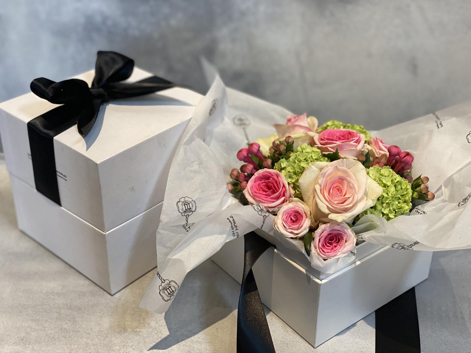 Boites a fleurs roses petit