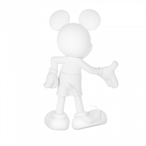Mickey welcome soft touch blanc 3